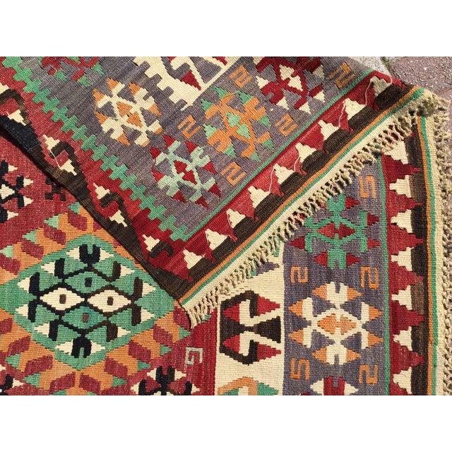 Vintage Turkish Kilim Rug For Sale - Image 11 of 12