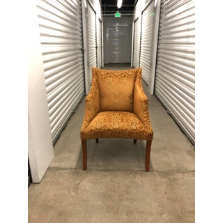 1960s Vintage Donghia Traditional Rust Patterned Accent Chair Preview