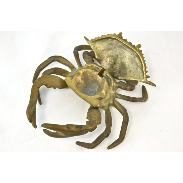 Mid-Century Brass Crab Box For Sale In Chicago - Image 6 of 7