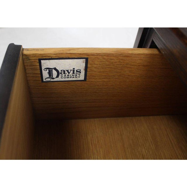 Mid 20th Century 20th Century Campaign Ebonized Cerused Oak Brass Pulls Double Dresser For Sale - Image 5 of 8