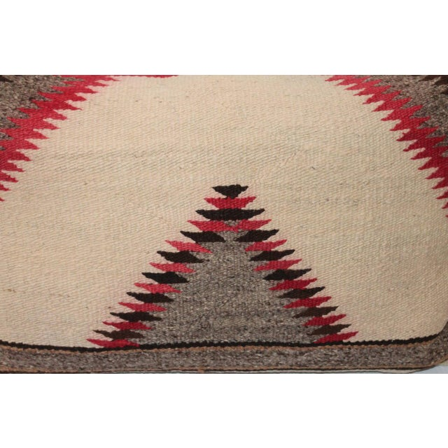 This is a wonderful and very punchy sawtooth pattern pillow. The colors are very muted over all very good condition. The...