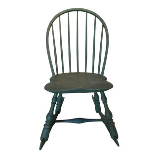 Child's Painted Antique 19th Century Windsor Rocking Chair For Sale