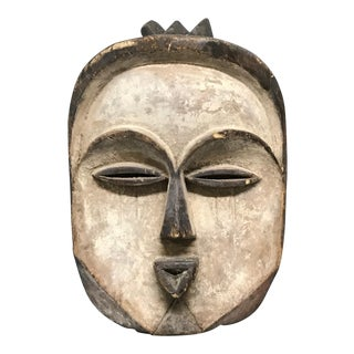 Vintage Mid-Century African Art Kwele Mask For Sale