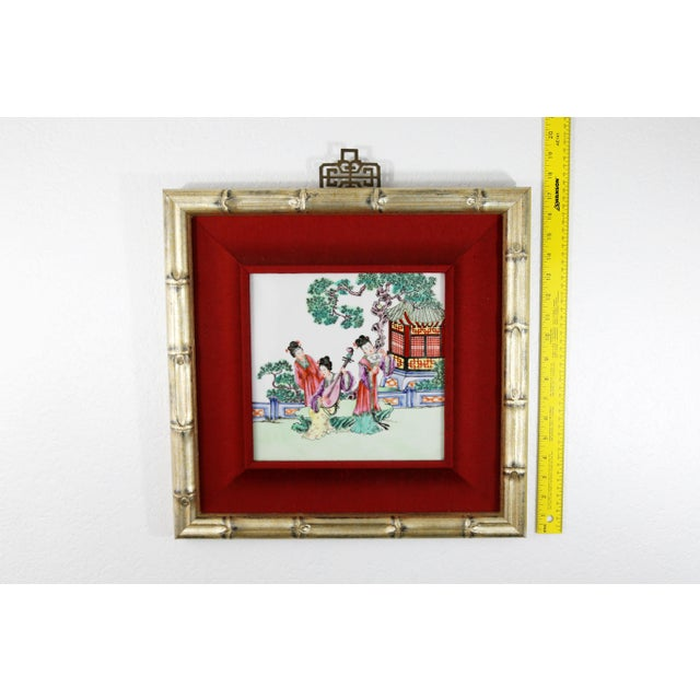 Hand-Painted Geishas on Porcelain Tile For Sale In Tampa - Image 6 of 7