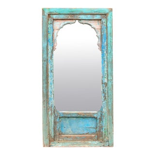 Spirited Jharokha 19th Century Arched Mirror For Sale