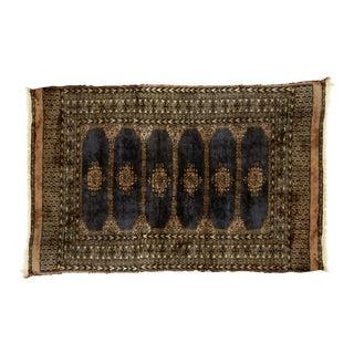 Vintage Bokara Wool Rug -3′1″ × 5′1″ For Sale