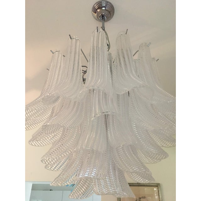 "Transparent Modern Murano Glass ""Selle"" Sputnik Chandelier For Sale - Image 8 of 11"