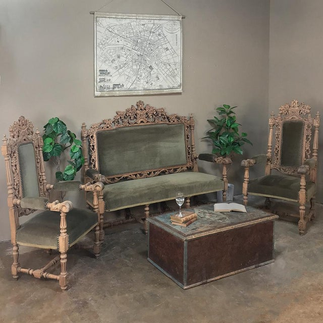 Pair 19th Century Black Forest Stripped Oak Armchairs For Sale - Image 4 of 11