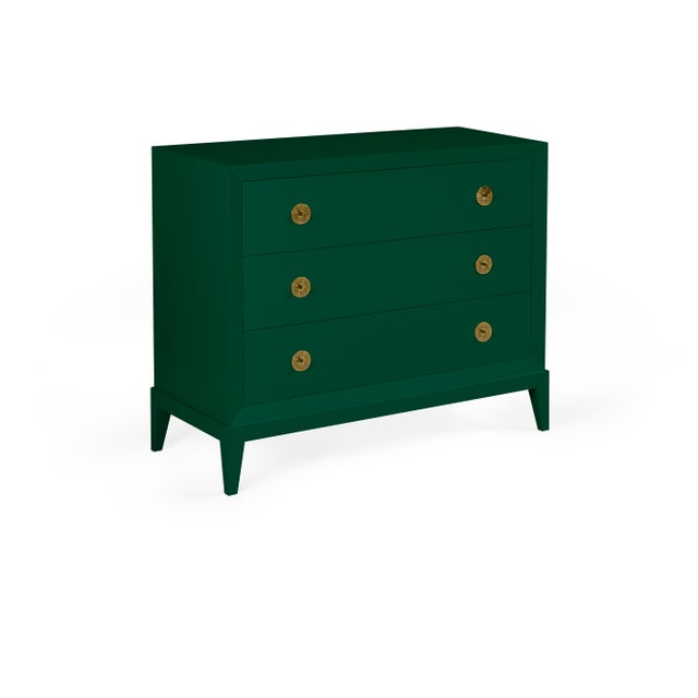 Transitional Casa Cosima Hayes Chest, Chrome Green For Sale - Image 3 of 3