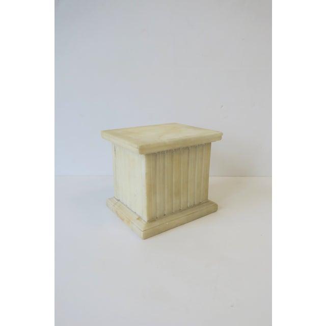 Italian Alabaster Marble Column Pedestal For Sale - Image 4 of 13