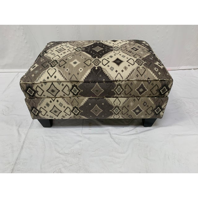 Late 20th Century Grey-tone Ottoman For Sale - Image 4 of 10