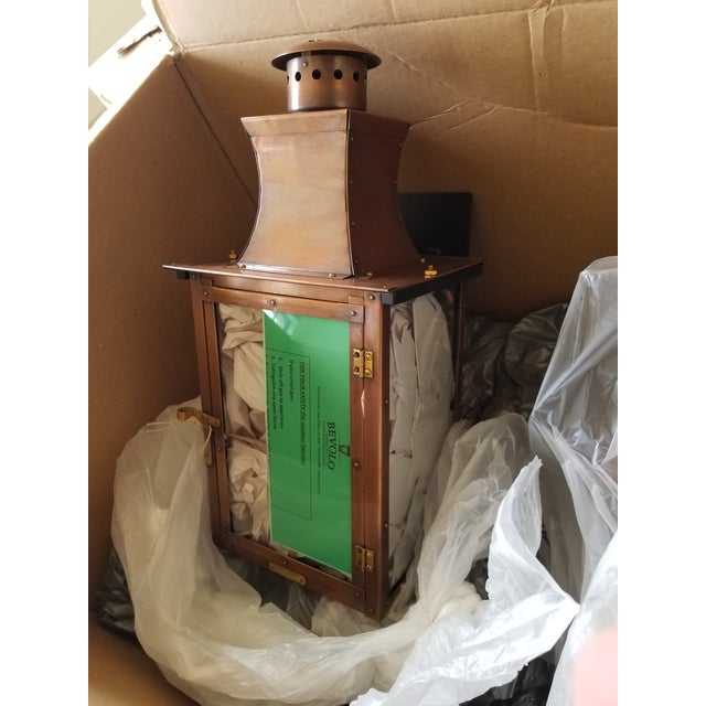 Bevolo Copper Wall Lanterns - a Pair For Sale In San Antonio - Image 6 of 11