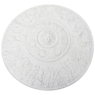 1990s Modern Versace Style White Plaster Resin Medallion For Sale