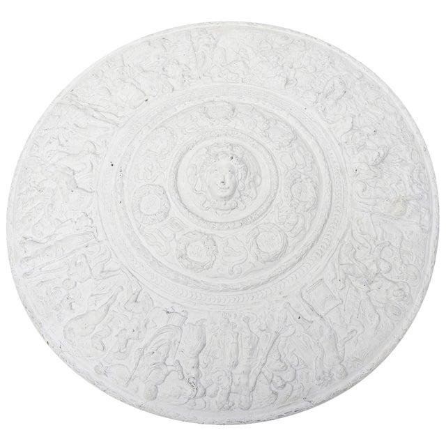 1990s Modern Versace Style White Plaster Resin Medallion For Sale