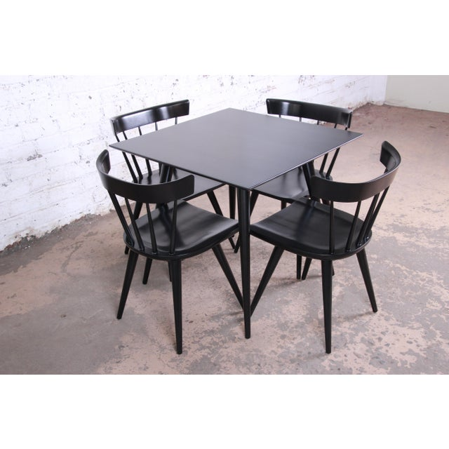 Paul McCobb Planner Group Ebonized Dinette Set, Newly Restored For Sale - Image 13 of 13
