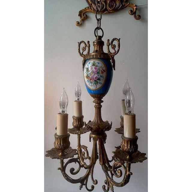 Pair of Beautiful Floral Pendant Lights or Sconces For Sale - Image 6 of 10