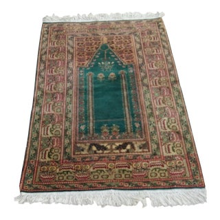 "Anatolian Vintage Rug Mihrab Design - 2'10"" x 4'3"" For Sale"