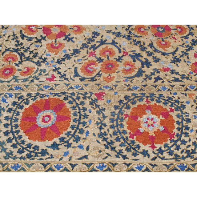 """Mid 19th Century Antique """"Suzani"""" (Dk-110-38) For Sale - Image 5 of 9"""