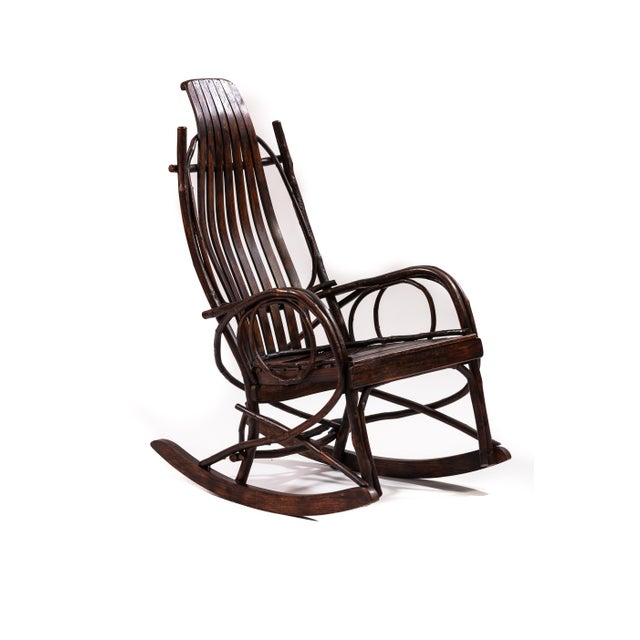 Early 20th-Century Adirondack Childs Rocker For Sale - Image 4 of 4