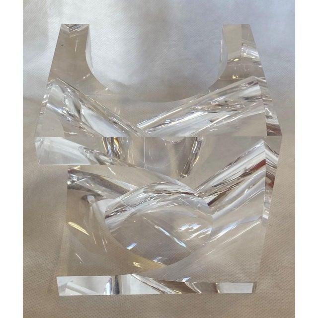 1970s Italian Alessio Tasca Lucite Sculpture For Sale - Image 11 of 11