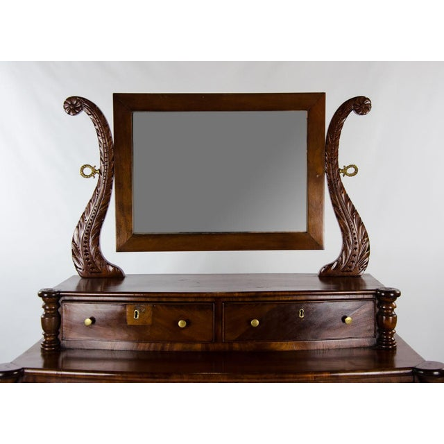 Late 19th Century 19th Century American Empire 6-Drawer Mahogany Vanity Dresser For Sale - Image 5 of 13