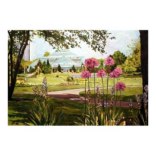 Lincoln Park Conservatory Giclee Print of the Painting For Sale