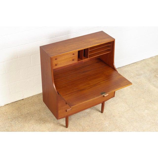 Mid Century Danish Modern Borge Mogensen Teak Wood Secretary Desk For Sale In Detroit - Image 6 of 11