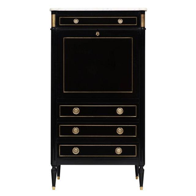 Louis XVI Style French Antique Secretary Desk For Sale