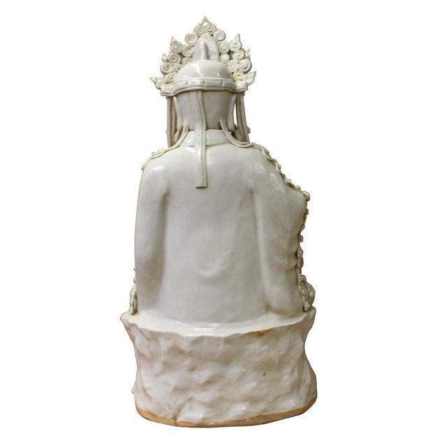 Chinese Tong Style Porcelain Kwan Yin Tara Bodhisattva Statue For Sale - Image 4 of 7