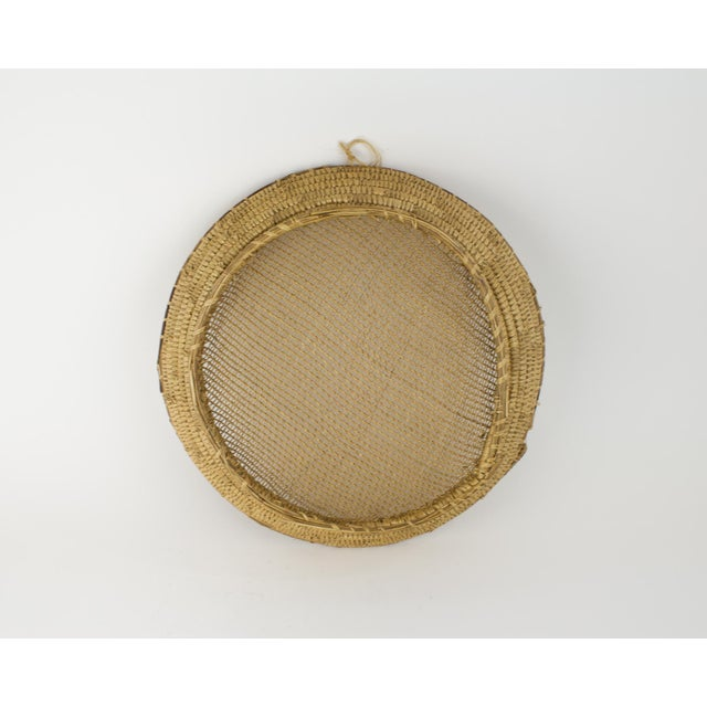 African Large Bohemian Woven Basket For Sale - Image 3 of 8