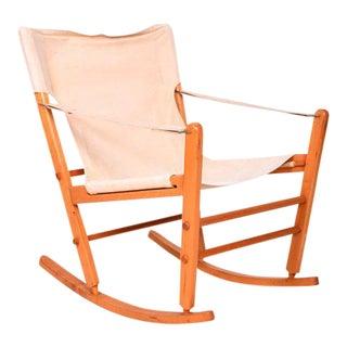 Mid-Century Modern Safari Chair Rocker