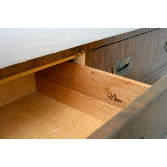 Campaign 20th Century Campaign Dixie 7-Drawer Lowboy Dresser For Sale - Image 3 of 9