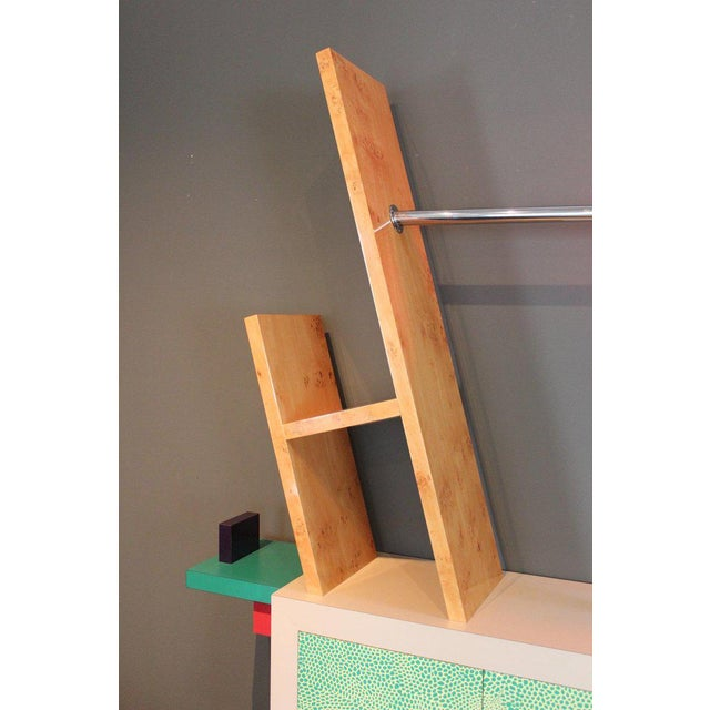 Memphis Group Early Beverly Bookcase by Ettore Sottsass for Memphis, 1981 For Sale - Image 4 of 11