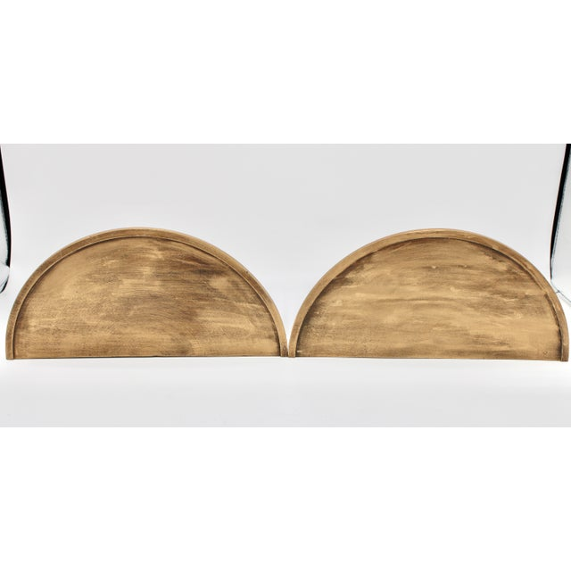Gold Neoclassical Golden Gilt Wood Wall Shelves - a Pair For Sale - Image 8 of 10