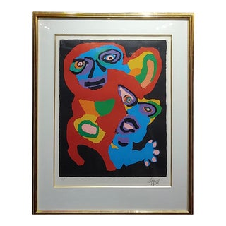 "Karel Appel ""Chien De Face"" Original Artist Proof Signed Lithograph For Sale"