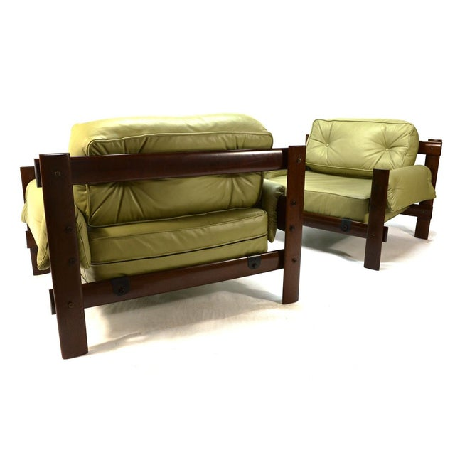 Percival Lafer Brazilian Leather Loungers - A Pair - Image 5 of 5