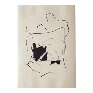 """""""Burnt Water"""" Lithograph & chine applique by Robert Motherwell For Sale"""