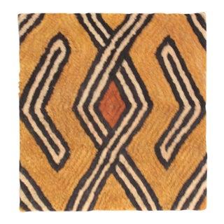 Vintage Kuba Cloth Mounted Wall Hanging For Sale