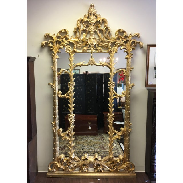 1990s Vintage Italian Gilded Pier Mirror For Sale - Image 13 of 13