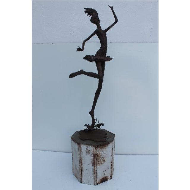 1970's Art Torch Cut Metal Floor Sculpture by Hambleton - Image 11 of 11
