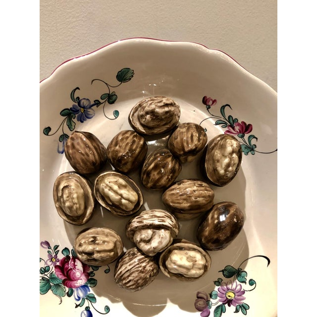 Trompe l'Oeil Walnut Plate, France For Sale In San Francisco - Image 6 of 7