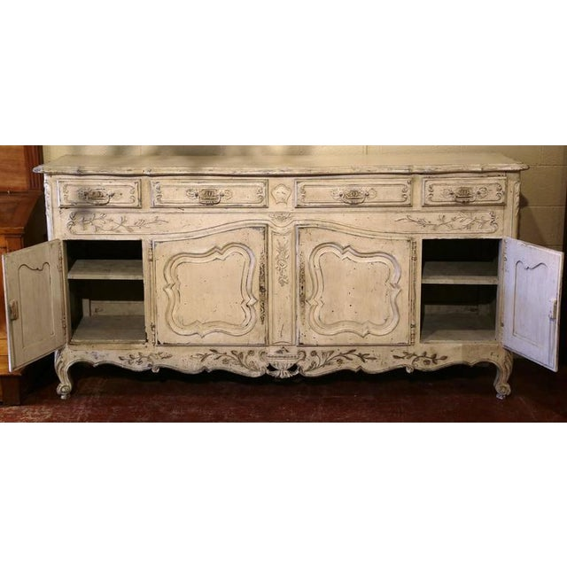 Early 20th Century French Louis XV Carved Painted Buffet - Image 2 of 9