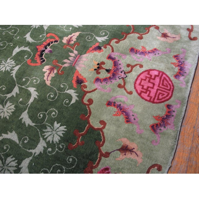 Textile Antique Chinese Art Deco Rug For Sale - Image 7 of 9