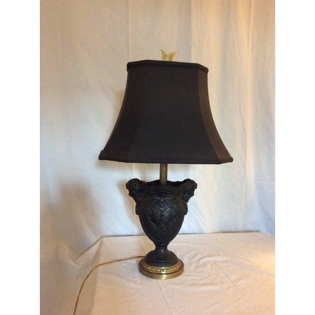 Basalt Urn Modified Custom Lamp For Sale - Image 10 of 13