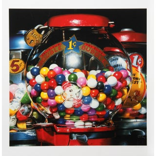 """Charles Bell, """"Double Bubble"""", Photorealist Candy Screenprint"""