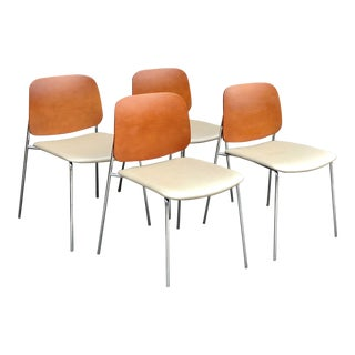 Modern Bernhardt Sonar Stacking Guest Chairs - Set of 4 For Sale