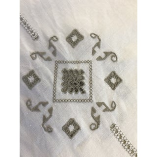Vintage Italian Cut Work Embroidered Tablecloth and Napkins - Set of 13 Preview