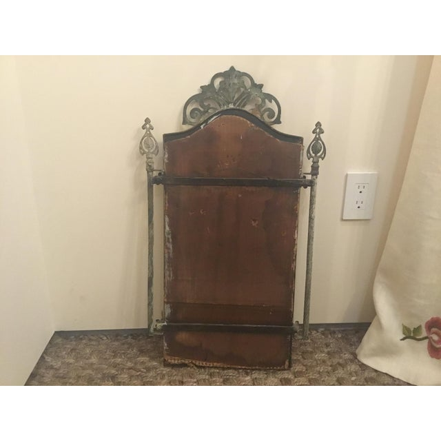 1940s Vintage Metal Iron Mirror For Sale - Image 4 of 7