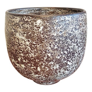 Richard Freiwald 'Atomic Magnetite' Spot Glaze Bowl/Cachepot For Sale