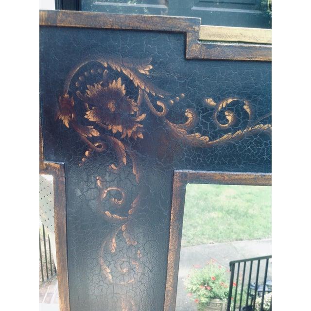 Wood Design Rectangular Black / Green Mirrors For Sale - Image 7 of 13